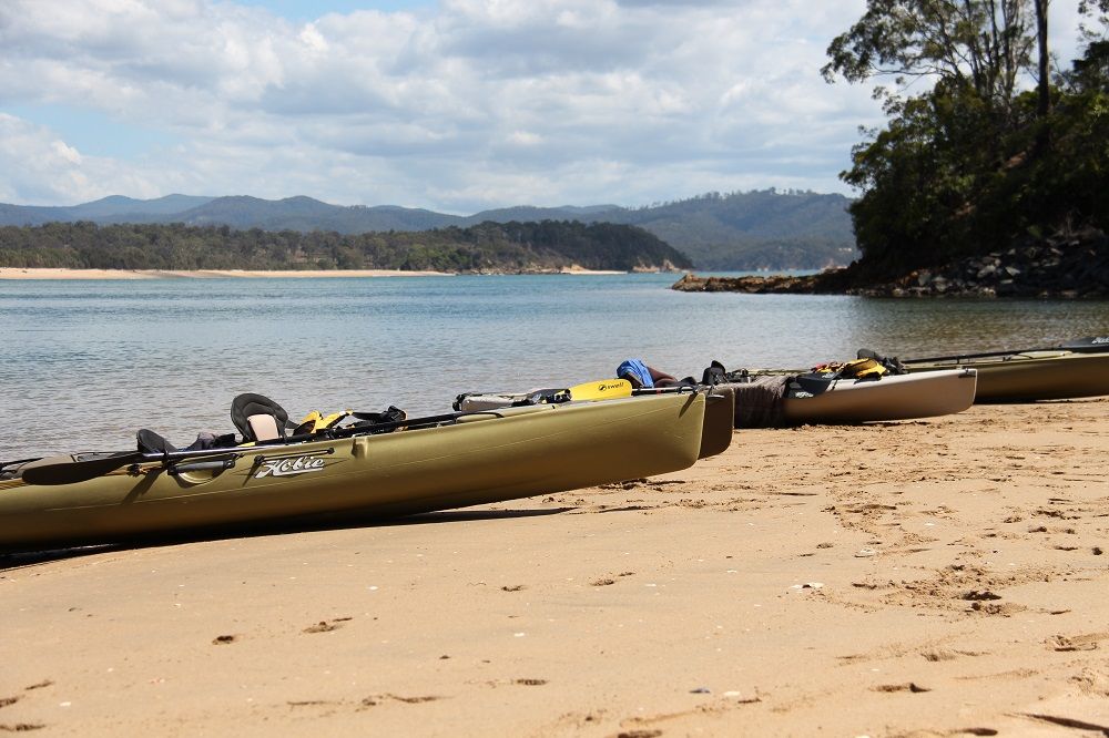 Kayaks at the rivermouth