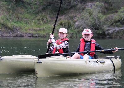 kids on kayaks